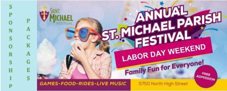 Annual st.michael parish festival flyer