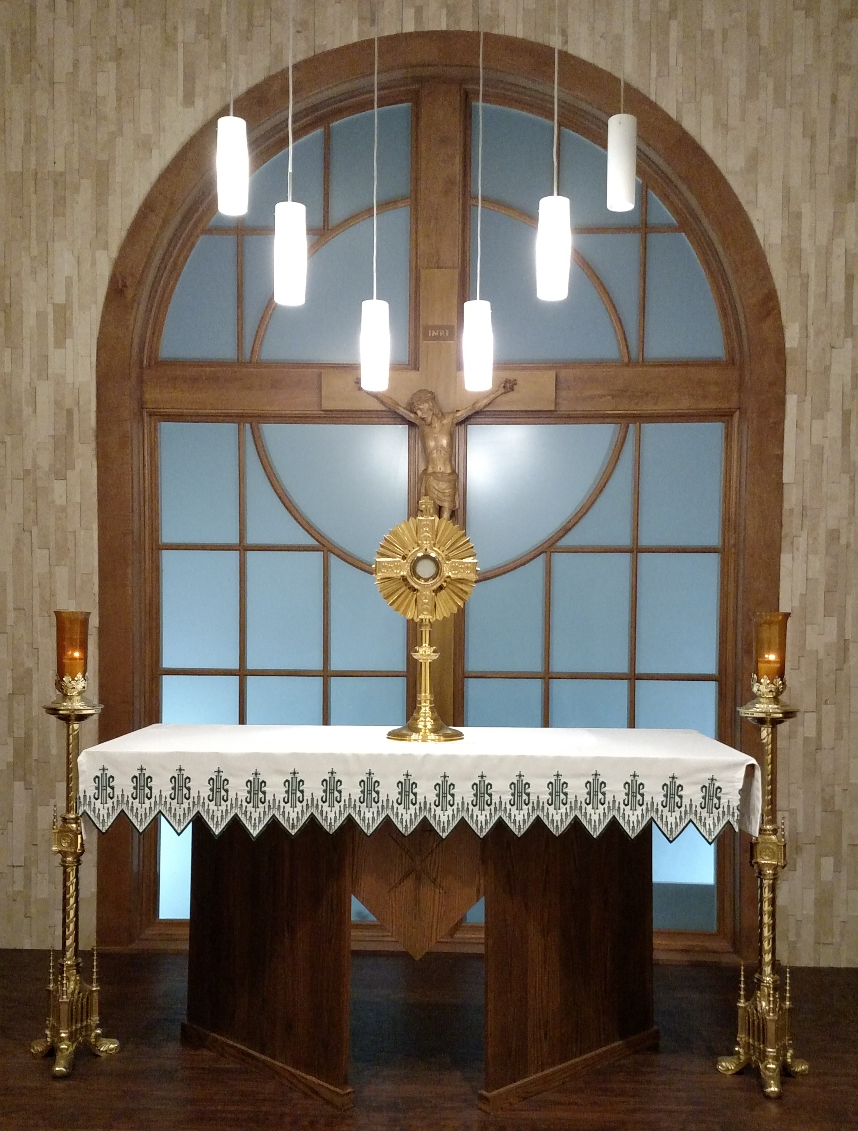 front view of adoration