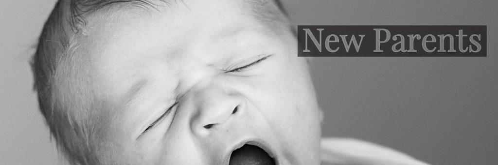 new born baby yawning