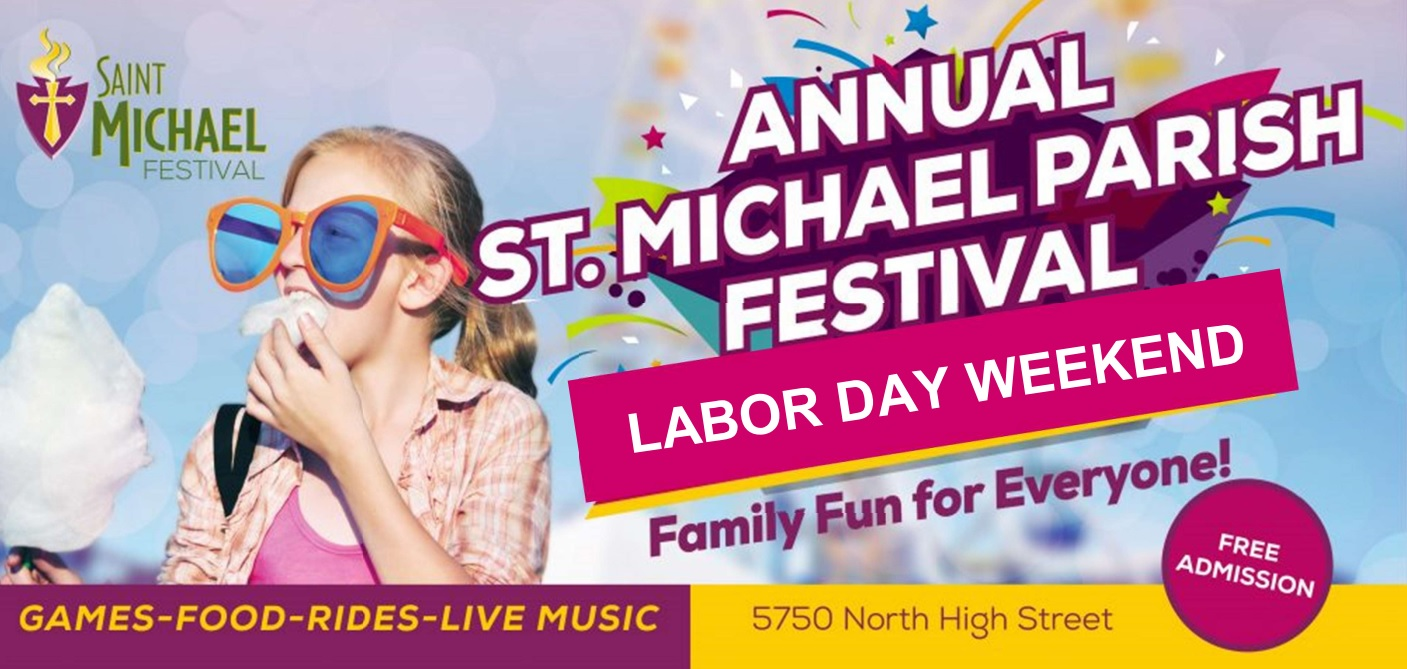 Annual St.Michael Parish Festival billboard advertisement