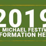 2019 St.Michael Festival Information banner